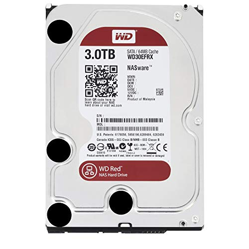WD Red - Disco duro para dispositivos NAS de sobremesa de 3 TB (Intellipower, SATA a 6 Gb/s, 64 MB de caché, 3,5