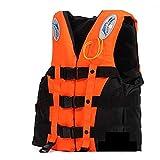 Giubbotto Salvagente Adulto Giubotto Salvataggio Bambini Regolabile Gilet di Sicurezza Schiuma Ad Alta Galleggiabilità Gilet da Paddle Universale (25-110kg) per Canottaggio Kayak Nuoto,Arancia,Small