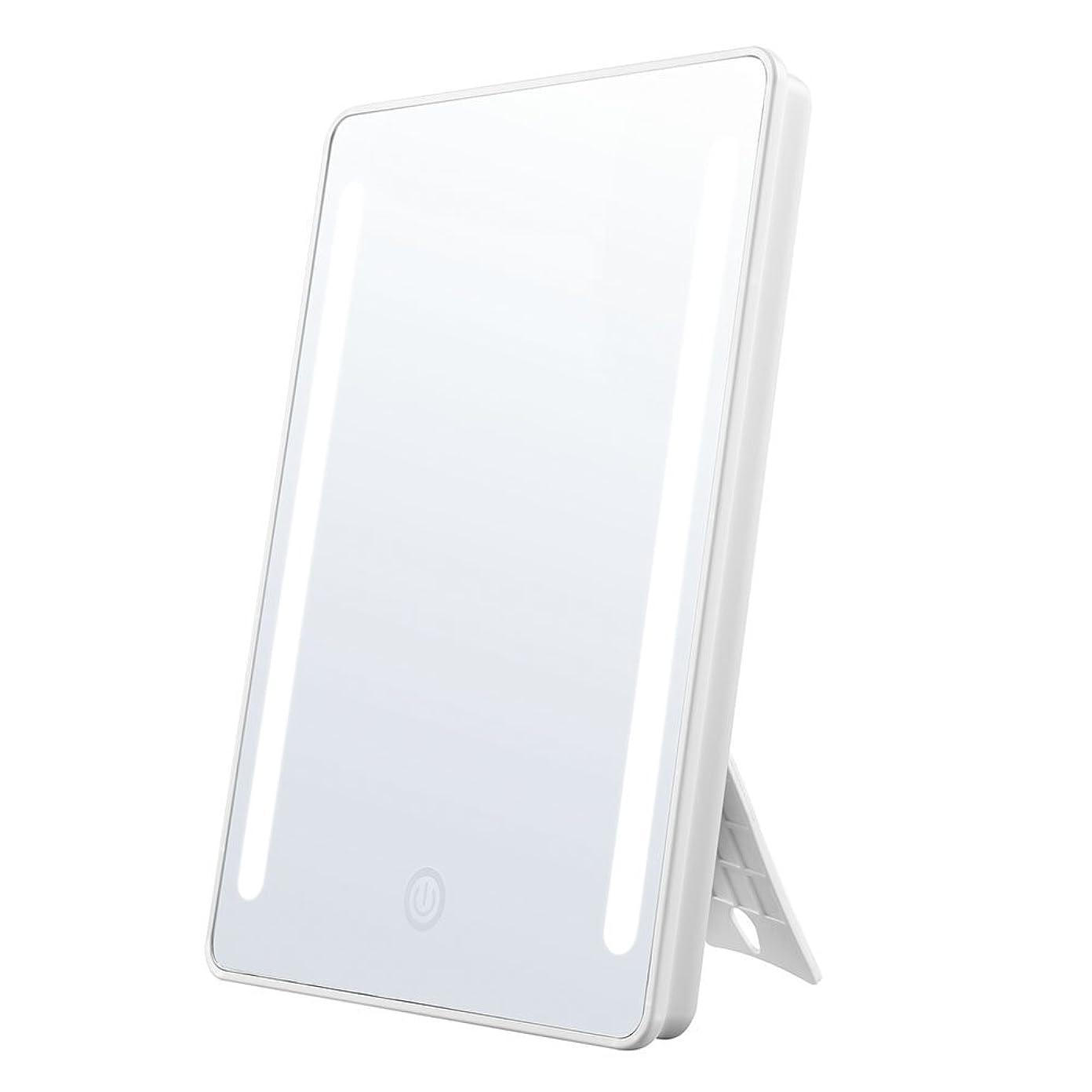 手配する運搬適用するJerrybox 鏡 化粧鏡 卓上鏡 大型 led 鏡 フルフレームLEDライト スタンドミラー 拡大鏡付き