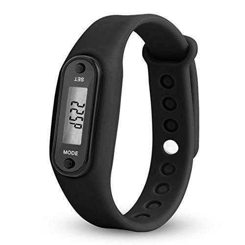 QCHNES Digitaler LCD-Schrittzähler, Laufstrecke, Kalorienzähler, Handgelenk, Frauen, Männer, Sport, Fitness, Uhrenarmband, Geringer Batterieverbrauch Und Automatischer Schlaf