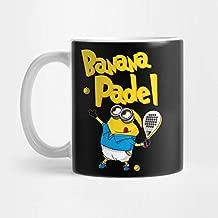 Llynice Banana Padel Black 11 OZ Taza: Amazon.es: Hogar