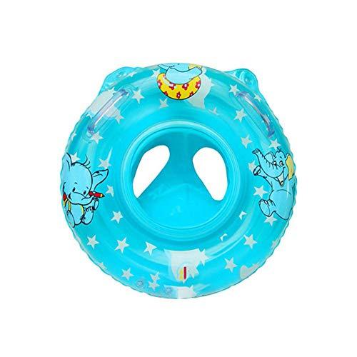 1PC Baby-Schwimmen-Ring-aufblasbare Schwimmer Schwimmen-Ring für Kinder Kleinkind Kleinkind mit Sicherheit Sitz Boot Pool Schwimmen Ring Early Learning Spielzeug - Blau