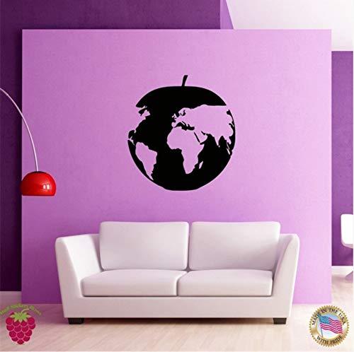 Pbbzl World Muursticker Zeldzame Apple Kaarten Decoratie voor Uw Plaats 56X56Cm