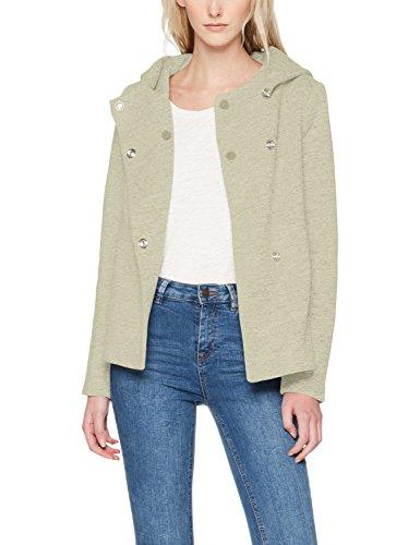 ONLY Damen onlFAIRY Mel Hooded Short Jacket CC OTW Jacke, Grün (Lichen Detail:Melange), 36 (Herstellergröße: S)