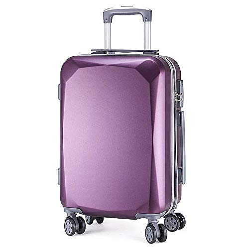 XIANGSHAN Trolley Case - Fashion PC Material Trolley Case Aluminum Frame Version Universal Wheel Luggage Fire Anti-theft Durable Luggage 34 Inches 64 * 45 * 28 Cm