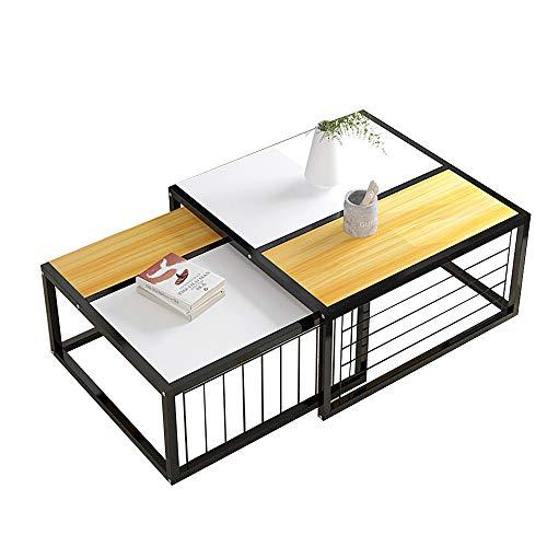 Desks DD Nesting Zijtafel Set Van 2, Koffietafel Met Metalen Frame, Hout Kijk, Industriële Stijl, Voor Woonkamer -Werkbank