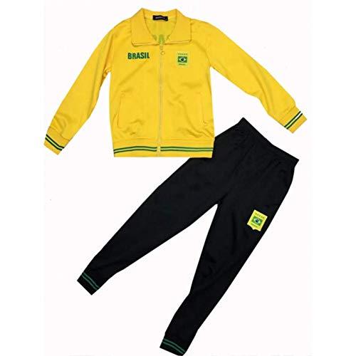 Unbekannt Générique Trainingsanzug für Kinder aus Brasilien 110 gelb