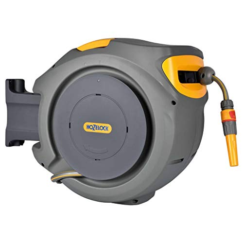 Hozelock Auto Reel with 20 m Hose, Yellow/Grey
