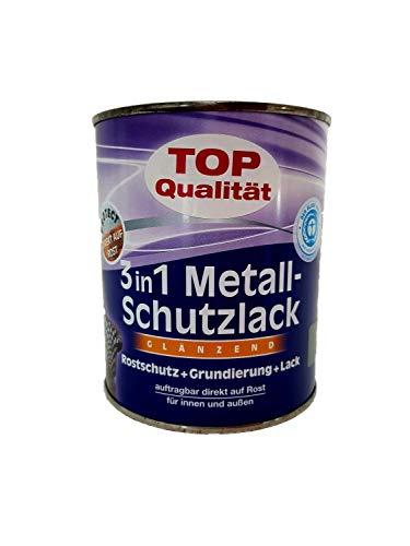 Genius Pro Metallschutzlack 3in 1, Rostschutz u. Grundierung und Lack in Einem, Lichtgrau RAL 7035 Glänzend / 750 ml