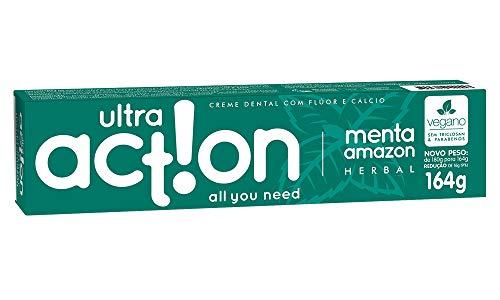 Creme Dental, Menta Amazon, 164 g, Ultra Action, Branco