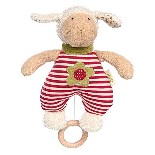 sigikid, Niñas y niños caja de música, verde oveja, rojo, 39055