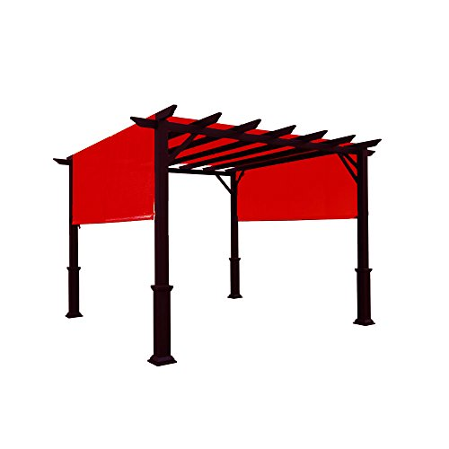 Alion Home Waterproof Pergola Covers - Pergola Replacement Canopy - Universal Replacement Canopy for Pergola (14' x 6.5', Burgundy Red)