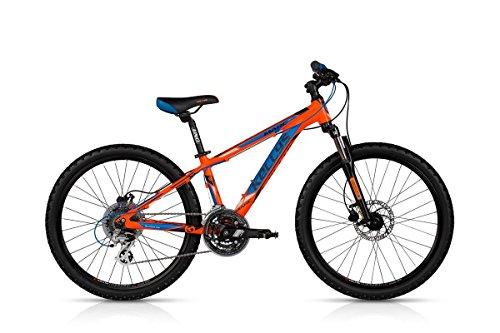 Kellys Marc 90 Bicicletta per bambini, arancione 24', blu