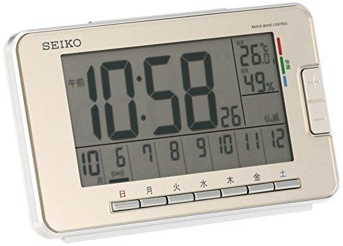 セイコー クロック 目覚まし時計 電波 デジタル ウィークリー アラーム カレンダー 快適度 温度 湿度 表示 ...