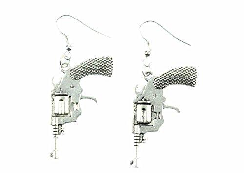 Revólver de la pistola del revólver Colt pendientes Miniblings vaquero arma XL
