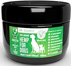Best Hemp Dog Treat Calming for Anxiety Composure Aid with All Organic Ingredients Omega 3-6 & 9 + Hemp 3,000 mg for Stress Relief - Storms + Barking + Chewing + Hip & Joint Pain Relief + Grass Fed Beef Review