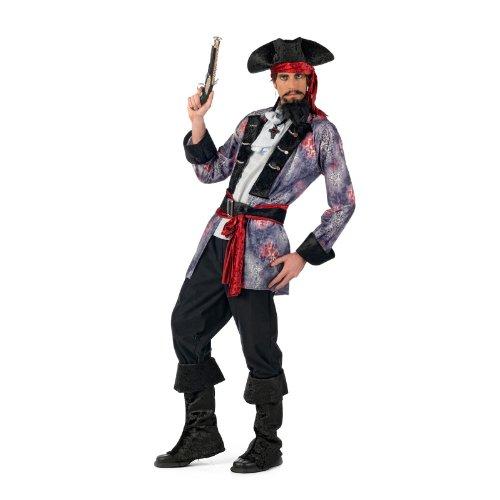 Pirata corsarioElegante Hombre Mar raber Disfraz, 6piezas, ideal para Carnaval