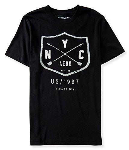 Aeropostale Men's Graphic Logo T-Shirt Large Black 6396