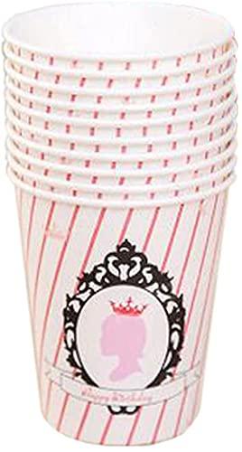 40 contando Agua Taza de Papel Oficina/Familia con Vaso desechable Rosa