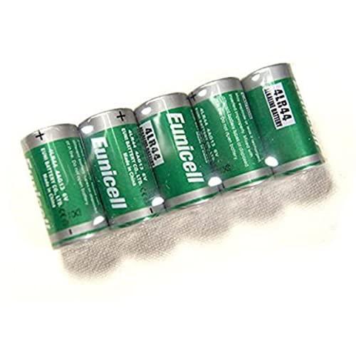Lotto di 5 pile Alcaline 6 V Eunicell 4LR44