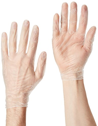 Dynarex 2613 Safe-Touch Vinyl Exam Glove Powder Free, Large, 100 Count