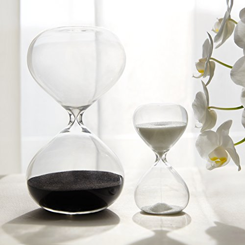 30 & 5 Minute Gravity Hourglasses - Time Management Set - Deep Black & Snow White