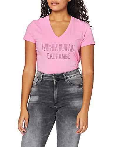 Armani Exchange T-Shirt Camiseta, Walk of Fame, XL para Mujer