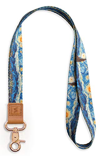 Senlly Fashion Schlüsselband (Verschluss) 1 Neck Lanyard Van Gogh Sternennacht