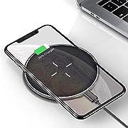 VANMASS Wireless Charger 10W Blitzschnelle qi Ladestation, Qi-Zertifizierte induktive Ladestation für iPhone 11pro/XS/XS Max/XR/X/8, Samsung Galaxy Note 10/S10/S10+/Note 9/S9/S8, Huawei P30 Pro usw