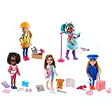 Barbie Chelsea Trabajadora de la construcción Muñeca rubia con accesorios de obra de juguete, para niñas y niños +3 años (Mattel GTN87)