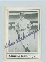 Charlie Gehringer AUTOGRAPH d.93 1978 Grand Slam Detroit Tigers
