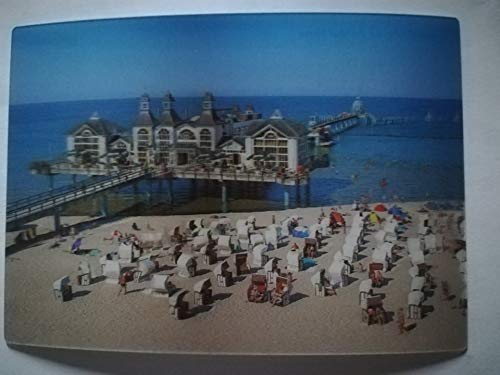 3 D Ansichtskarte Insel Rügen, Sellin Seebrücke, Postkarte Wackelkarte Hologrammkarte, Strand Meer