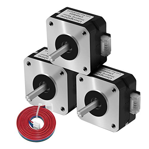ZGQA-GQA 3Pcs Nema 17 Stepper Motor Bipolar Step Motor for Extruder 3D Printer(17HS4023)