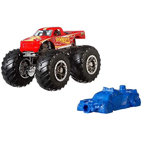 Hot Wheels - Monster Trucks Vehículo 1:64 de carreras, coches de jugu