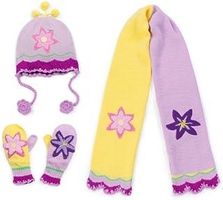 Kidorable Lotus HatScarf and Lotus Mittens (Medium Mittens)
