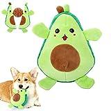 Pawaboo Dos en Uno Juguete Interactivo para Mascotas, Juguete para Dentición del Perro Chillón, Juguete de Peluche de Aguacate, Especialmente Diseñado para Perros Pequeños y Pedianos - Verde