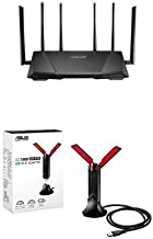 ASUS RT-AC3200 Wireless-AC3200 Tri-Band Wireless Gigabit Router and USB-AC68 Dual-Band AC1900 USB 3.0 Wi-Fi Adapter with Included Cradle Bundle