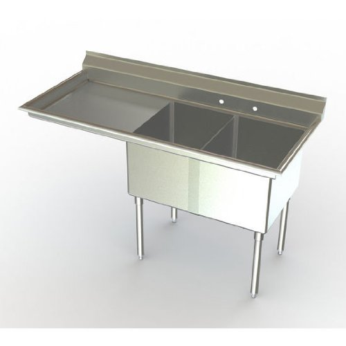 Delux Chicago Mall Two Compartment NSF Sink OFFicial Bowl x with 24 inch