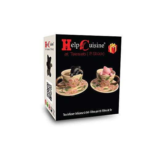 HelpCuisine® infusore per tè/filtro per tè, Infusore per te e tisane a forma di gattino, design...