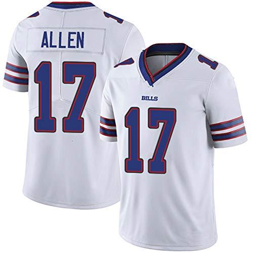 FranklinSports Bills Josh Mens Women Youth Limit Embroidery Allen Jersey Football (White, Women-XXL)