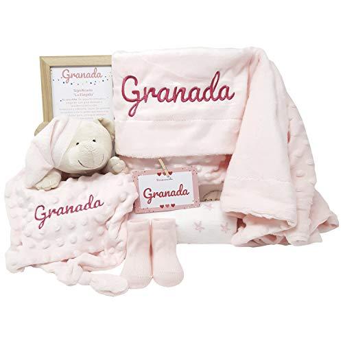 True Colors de Mababy   Canastilla bebe   Regalo Babyshower   Canastilla Bebé Recien nacido Personalizada (Rosa)