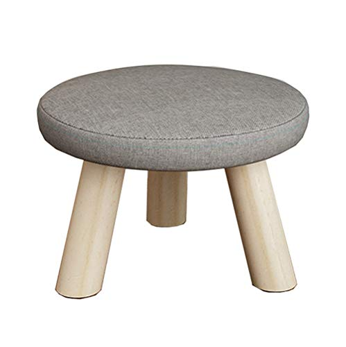 Leileixiao Cloth Changing Shoes Footstool Home Solid Wood Round Stool Creative Living Room Mushroom Stool Small Stool Low Stool (Color : F, Size : 28 * 19cm)