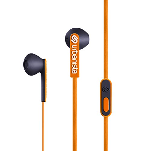 Urbanista San Francisco Ergonomic Earphones with Remote and Mic, Sunset Boulevard/Orange