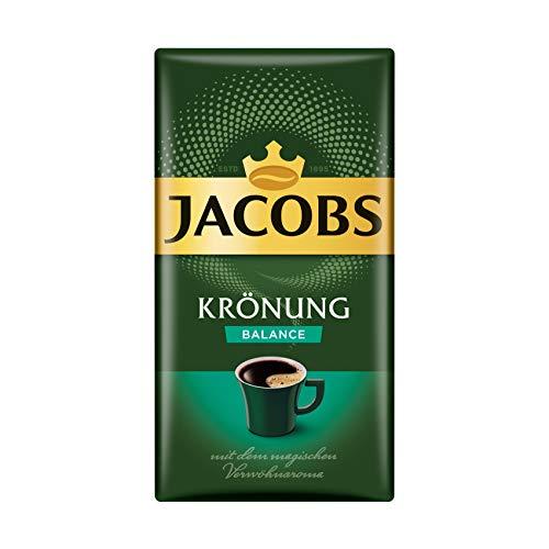Jacobs Filterkaffee Krönung Balance, 12er Pack, 12 x 500 g gemahlener Kaffee