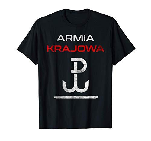 Armia Krajowa 1944 Polen Polish Polski Warschau Geschenk T-Shirt