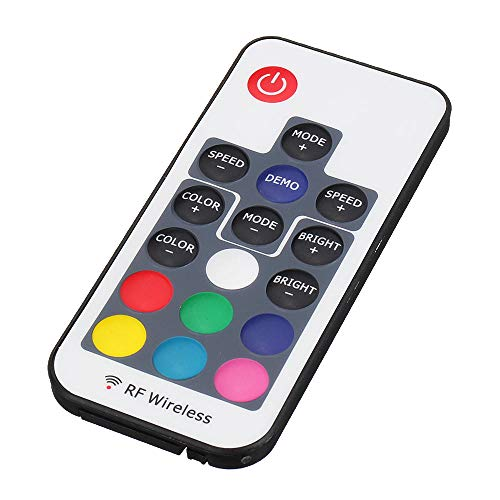 Módulo electrónico Este control F17 Mini Wireless LED luces de colores interruptor de control remoto con luz Bar Radio Frecuencia controlador for Smart Home 3pcs Equipo electrónico de alta precisión