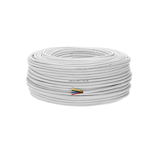 250ft 18AWG 4 Conductors (18/4) CL2 Rated Loud Speaker Cable Wire, Pull Box (for in-Wall Installation) (18AWG / 4 Conductors, 250ft)