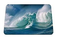 22cmx18cm マウスパッド (波の海のしぶき海の力のしぶき) パターンカスタムの マウスパッド