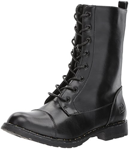 Dirty Laundry by Chinese Laundry Women's Radix Combat Boot, Black Smooth, 8 M US