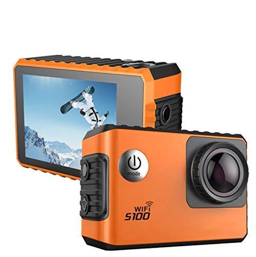 Pkfinrd HD 4K cámara exterior de deporte impermeable 170° gran ángulo de buceo 30M Deportivo Recortador de conducción con cámara digital y función de grabación en bucle